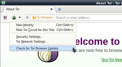 не могу обновить tor browser